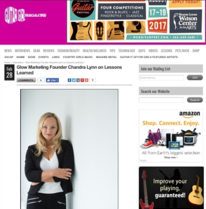 Guitar Girl Magazine Interviews Chandra Lynn