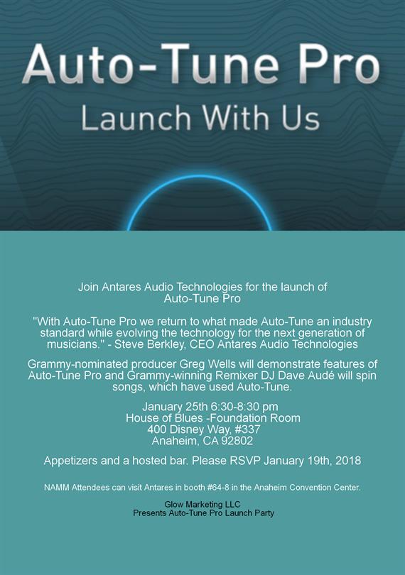 Antares Auto-Tune Pro Launch Party  