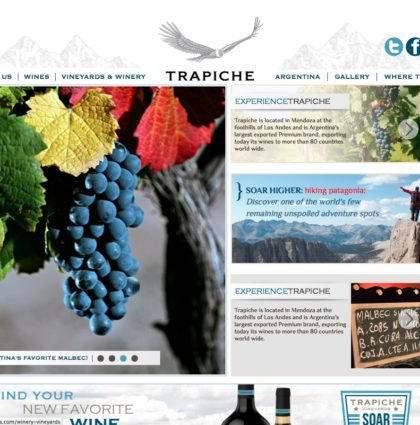 Trapiche Wines – Web Design